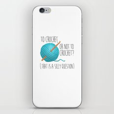 To Crochet Or Not To Crochet? (That Is A Silly Question)  |  Blue iPhone & iPod Skin