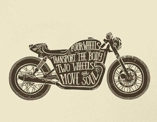 Two wheels move the soul Art Print