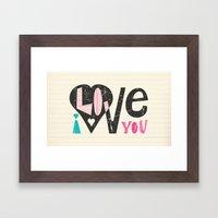 Love Note Framed Art Print
