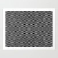 Plaid Hypnosis Art Print