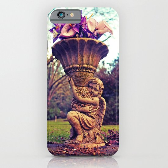 Graveyard statue iPhone & iPod Case