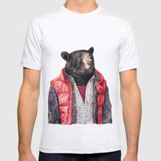 Black Bear Mens Fitted Tee Ash Grey SMALL