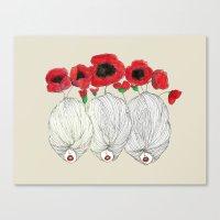 Poppy Girls Canvas Print