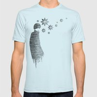 Winter Mens Fitted Tee Light Blue SMALL