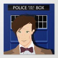 Doctor Who - Matt Smith Canvas Print