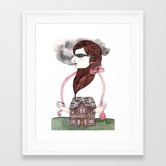 Little Smokes Framed Art Print