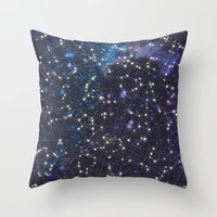 Sky Map Throw Pillow
