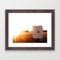 prohibited Framed Art Print