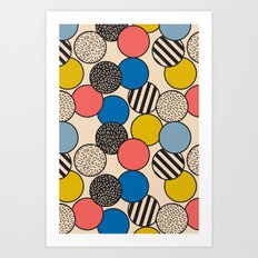 Memphis Inspired Pattern 5 Art Print
