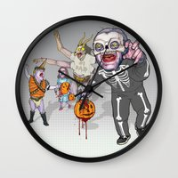 Trick Or Tremble Wall Clock