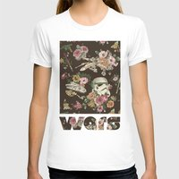 floral T-shirts featuring Botanic Wars by Josh Ln