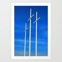 Bellevue Crosses Art Print