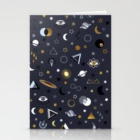 Galaxy ( Gold And Silver… Stationery Cards