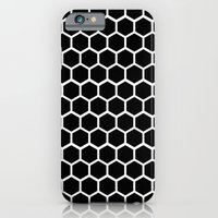 iPhone & iPod Case featuring Graphic_Cells Black&White by Anna Rosa