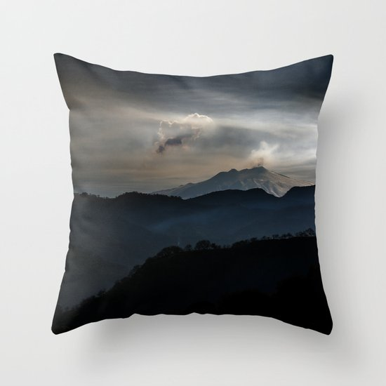 Vulcan Etna Throw Pillow
