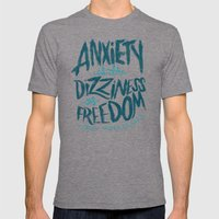 Kierkegaard on Anxiety Mens Fitted Tee Tri-Grey SMALL