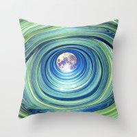 Moon Lights Throw Pillow