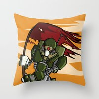 Machine Revolution Throw Pillow