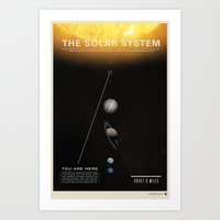 THE SOLAR SYSTEM - Sun | Venus | Mercury | Earth  | Space | Time | Science | Planets | Moon Art Print