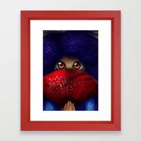 Hiding.  Framed Art Print
