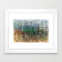 Gridscape Framed Art Print
