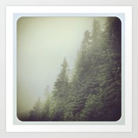 Art Print featuring foggy morning by sandra lee russell