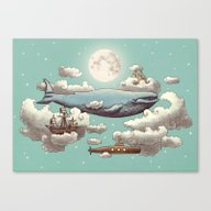 Ocean Meets Sky  Canvas Print