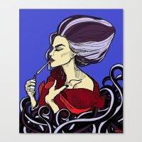Ursula After A Hard Days… Canvas Print
