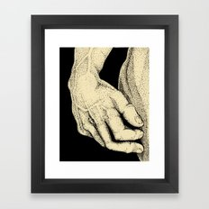David's Hand in ink Framed Art Print