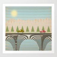Art Print featuring The Bridge by Tammy Kushnir