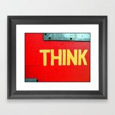 Fine Art Photograph Called Think Framed Art Print