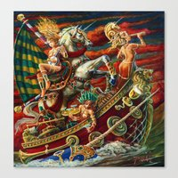 Party Boat to Atlantis Canvas Print