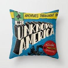 Unknown America Comics #1 Throw Pillow