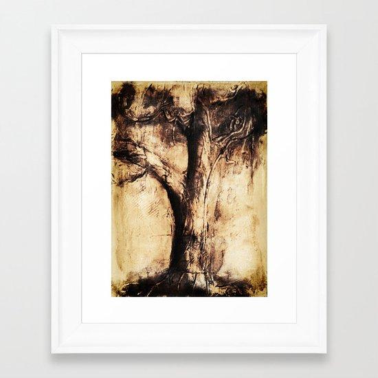 Burnt Tree Framed Art Print