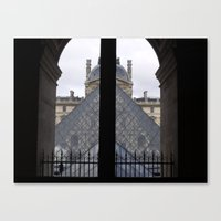 Louvre Pyramid Canvas Print