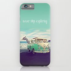 NEVER STOP EXPLORING THE BEACH Slim Case iPhone 6s