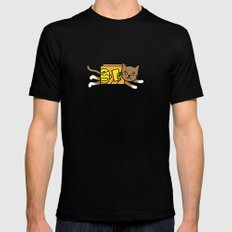 box cat SMALL Black Mens Fitted Tee