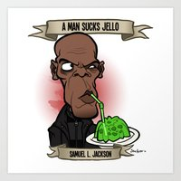 A Man Sucks Jello (Samue… Art Print