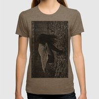 Aequilibrium Womens Fitted Tee Tri-Coffee SMALL