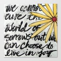 Live in Joy Canvas Print
