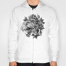Ornate Leopard Black & White Variant Hoody