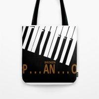 BROKEN  P . . . AN . . .… Tote Bag