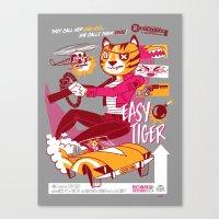 Easy Tiger Canvas Print