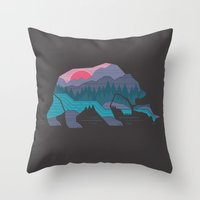 Bear Country Throw Pillow
