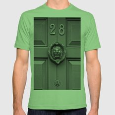 The Lion at 28 Mens Fitted Tee Grass SMALL