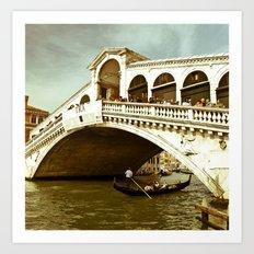 Ponte di Rialto Art Print