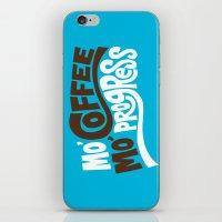 Mo' Coffee Mo' Progress iPhone & iPod Skin