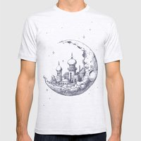 Arabian Crescent Mens Fitted Tee Ash Grey SMALL