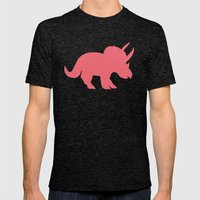 Sarah in Pink Mens Fitted Tee Tri-Black SMALL