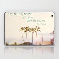 Sunshine, Sea, Air Laptop & iPad Skin